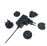 Universal interchangeable plugs switching power supply adapter 5V 1A