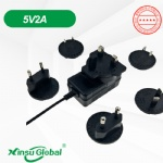5V 2A interchangeable plugs universal power adaptor with 10 kinds plugs