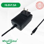 US wall ac plug 16.8V1.5A charger adapter UL