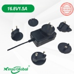 Interchangeable plugs 16.8V1.5A charger
