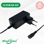 Korea KC li-ion battery charger adapter 12.6V 0.5A KCC certificated