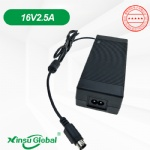 16V 2.5A Switching AC adapter DC power supply