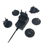 10 multi interchangeable plugs li-ion battery charger adapter 12.6V 1A